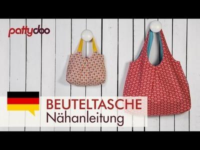 DIY Beuteltasche zum Wenden nähen - Taschen Schnittmuster kostenlos