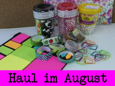 DIY Haul August | Neues Washitape | Rossmann, DM, Tedi | Post Its & Herzchen-Büroklammern