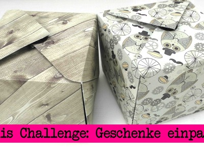 DIY Inspiration Challenge #17 Geschenke verpacken | Kathis Challenge | Tutorial - Do it yourself