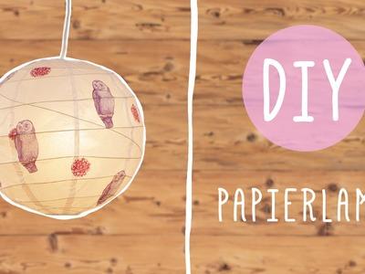 DIY mit Nina: Süße Papierlampe mit Servietten