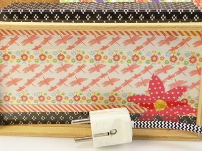 DIY Zimmerdeko im Frühlingslook | Kathi gestaltet ihre Lampe für das Frühjahr neu | mit  Washitape