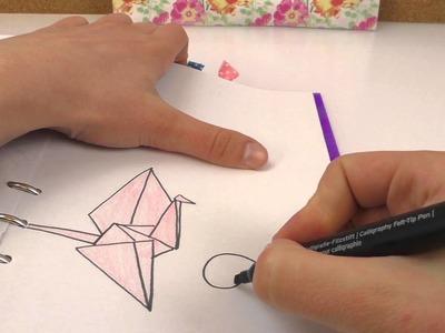 Filofax Deko | 3 NEUE BILDER im Filofax | Origami Kranich, Unendlichkeitszeichen & Diamant