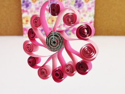 Frühlingsdeko Blume aus Papier | Quilling deutsch Anleitung | süße Blume als Fenster Deko | DIY