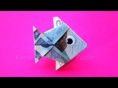 Geldschein falten: Fisch - Geld falten zum Geldgeschenke basteln Hochzeit