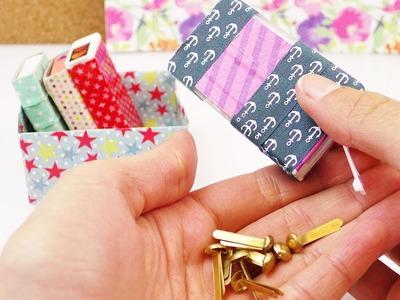 Kleine Aufbewahrung aus TicTac Dosen für den Schreibtisch oder für Unterwegs für Büroklammern ect.