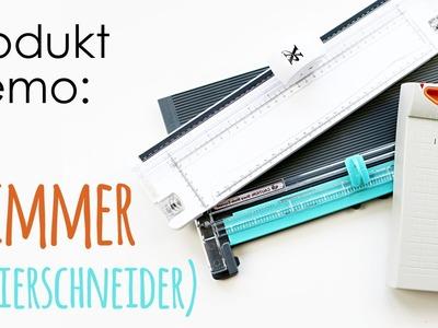 Produkt Demo | Trimmer * Papierschneider ( + Falzbrett)
