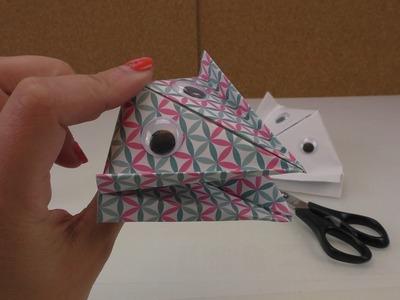 Schnapptiere falten - einfaches Origami für Kinder - Bastel Ideen mit Papier