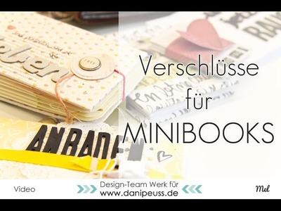 Scrapbooking Ideen | Verschlüsse für Minibooks