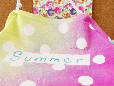 """""""Sommer"""" Tasche mit Fashion Spray gestalten   Kathi färbt ihre selbstgenähte Tasche   Punkte"""