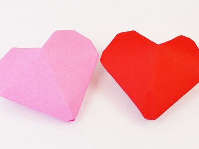 3D Herz Origami | Kleine Herzen zum Aufblasen falten | einfach & süß | Valentinstag
