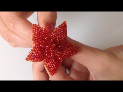 Blume für Haargummi oder Brosche.  Teil 2.2. Tutorial