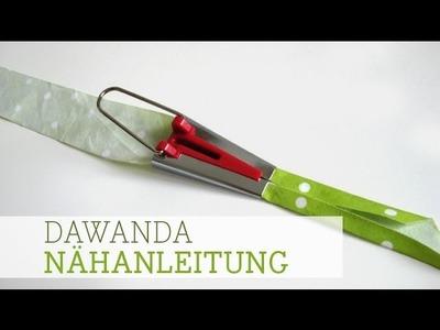 DaWanda Nähanleitung: Schrägband selber machen