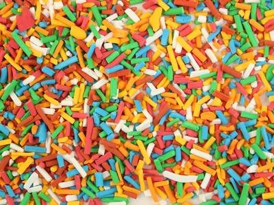 DIY Sprinkles | Bunte Zuckerstreusel |Jimmies selber machen