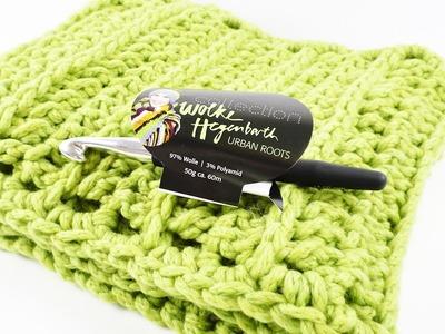 Frühlingsschal häkeln | Wunderschönen Schal für das Frühjahr | Mit tollem Muster | Leicht & locker