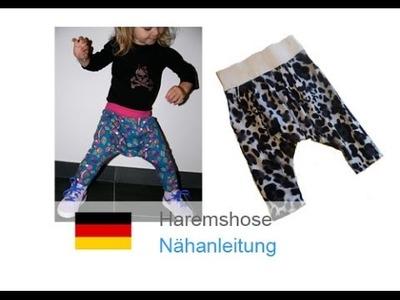 "Haremshose, Pumphose ""LILLY"" nähen - für Nähanfänger - Schnitt und Anleitung"