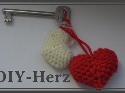 Herz häkeln, Schlüsselanhänger für Valentienstag