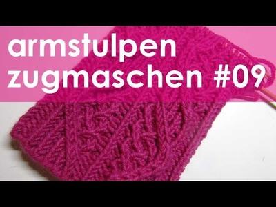 Nadelspiel StriMiMi Jänner 2016 * Zugmaschen * Mütze, Armstulpen, Socken * Teil 9