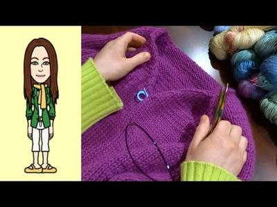 RVO Raglan von oben Pullover stricken mit V-Ausschnitt (Teil 11 von 12)