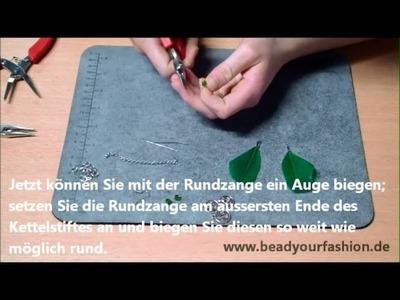 Schmuck herstellen - DIY Projekt 11: Feder Ohrringe herstellen