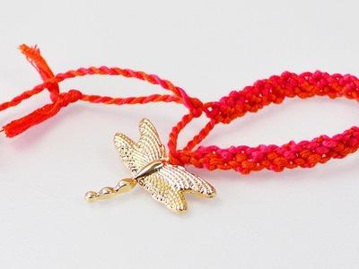 Wunderschönes Armband knüpfen | Frühlingsschmuck mit Libelle als Anhänger | orientalisch | Ethno