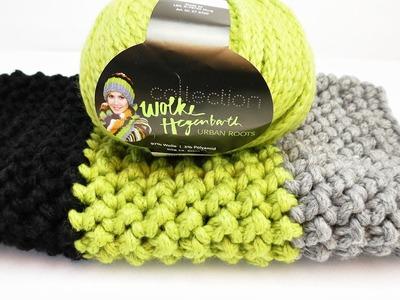 Loop Schal häkeln | Single Loop in 3 Farben im Fischgrätmuster | Schal mit tollem Muster