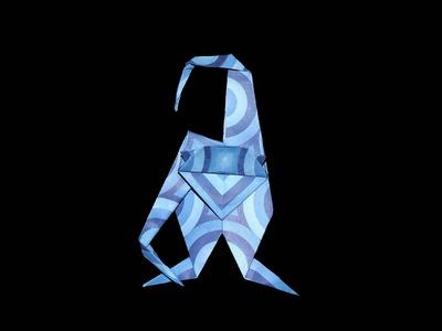 Origami Affe (Ape): Faltanleitung [HD.DE] (Live erklärt)