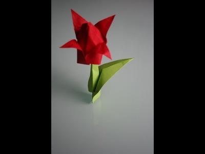 Origami Tulpe tulip