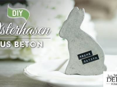 Osterdeko basteln: Deko-Osterhasen aus Beton - How to | Deko Kitchen