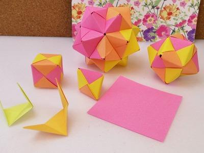 Sonobe Origami Übersicht | Modulares Origami aus 3, 6, 12 & 30 Elementen | Gleiche Grundlage
