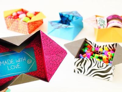 Süße Origami Box zum Aufklappen | Tolle Aufbewahrungskiste einfach falten | Geschenk Idee Nachricht