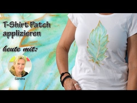 DIY T-Shirt Patch applizieren