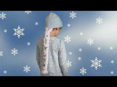 Mütze mit Elsa Zopf | Frozen | DIY | Nähen | Halloween
