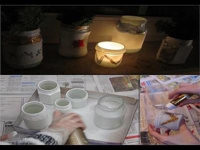 ❄  DIY Weihnachtliche deko Gläser #JuliasDezember ❄