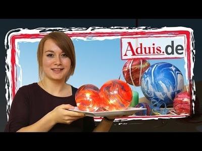 Marmorieren DIY Anleitung Tischdekoration