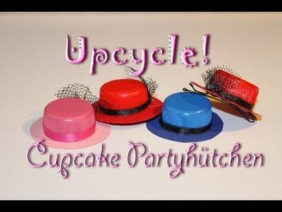 Upcycling Anleitung - DIY Deko für Cupcakes - Partyhut selber machen