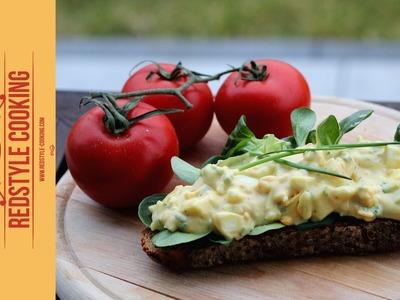 Beilage zum Grillen: Eiersalat - Egg salad