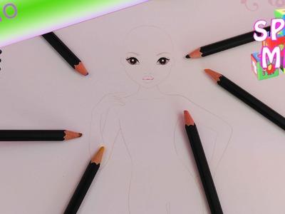 Bibis beauty palace malen - Bibi im Topmodel Malbuch zeichnen