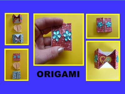 DIY Origami Geheimfach - Schachtel basteln, Box falten, Geschenk zum Muttertag. Gift box pop-up