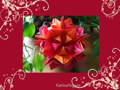 Origami ✿⊱╮ Frau Marta ✿⊱╮ Kusudama