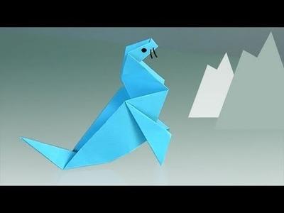 Origami Robbe. Origami Papierfaltkunst lerner