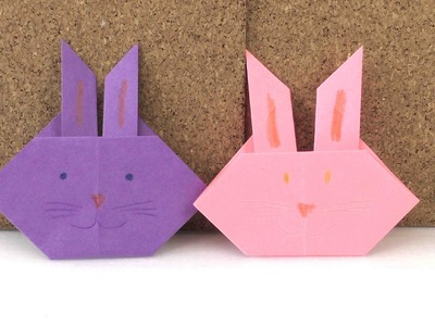 Origamianleitung: Hase - Figur ganz leicht selber falten - Tutorial deutsch