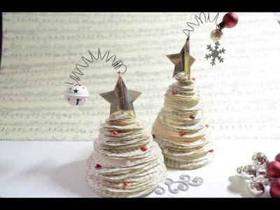Tutorial,X-Mas Tree,Mini Weihnachtsbaum Deko[PaperArt Basteln mit Papier,Deutsch]