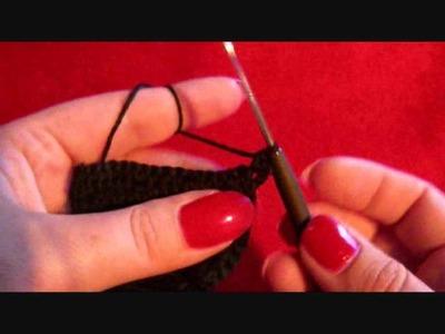 Häkeln tanga black. crochet
