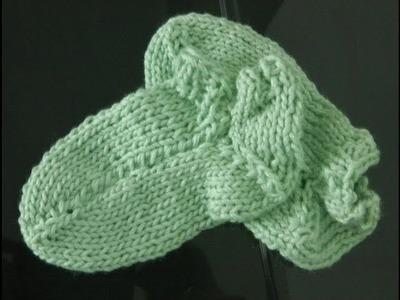Socken stricken super einfach [3] Fußbett und Spitze