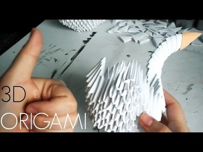 DIY: How to make a 3D Origami swan