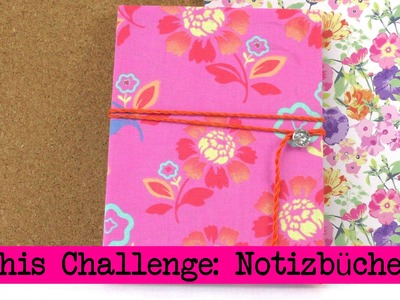DIY Inspiration Challenge #14 Notizbücher | Kathis Challenge | Tutorial - Do it yourself