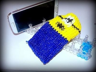 Minion Handyhülle, Smartphone-Hülle mit Loom Bands und Rainbow Loom deutsch