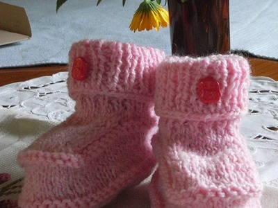 Baby stiefeletten stricken*Baby Boots*Knitting booties*Tutorial Handarbeit