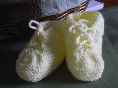 DIY*Teil 1 *Turnschuhe  Baby booties*Babyschuhe Stricken*Knitting*Tutorial Handarbeit