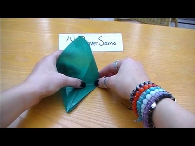 Origami Kranich falten langsam
